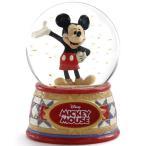 ディズニー スノードーム ミッキーマウス ウォーターグローブ 100mm 木彫り調フィギュア ディズニー・トラディション