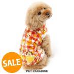 冬 犬 服 セール ペットパラダイス ディズニー チップとデール チェック柄 ロンパース〔小型犬〕 超小型犬 小型犬