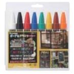 呉竹 ボード用マーカー ボード&ガラスマーカー セット 8色入 丸芯 PMA-330LA/8V