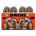 マグネット DOG IN THE CAR ステッカー ダックスフンド206 犬  オーダー 可愛い 車  グッズ ギフト プレゼント ドッグ