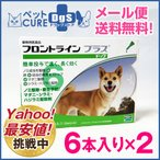 犬用 フロントラインプラス ドッグ M(10〜20kg) 6ピペット×2箱セット〔1セットまでメール便対応可〕