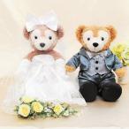ダッフィー ウェディング 衣装 ペアセット ウエディング 結婚式 ウェルカムドール タキシード グレー