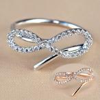 指輪 レディース リング ダイヤモンドCZ メビウスの輪