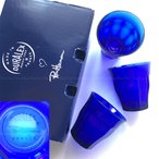 Ron Herman ロンハーマン限定 10周年記念 別注DURALEX スタッキング グラス 6個セット サファイアブルー ロゴ入り ギフト