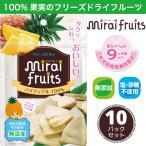 無添加 ドライフルーツ 砂糖不使用 パイナップル 10g×10パック セット フリーズドライ 離乳食 お菓子 赤ちゃん ミライフルーツ mirai fruits ポイント消化