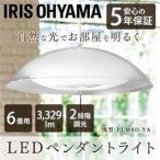 ペンダントライト LED 6畳 調光 アイリスオーヤマ 天井照明 ライト 天井 洋風 メタルサーキットシリーズ 浅型 PLM6D-YA