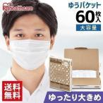 マスク 不織布 大きめ プリーツマスク ゆったり大きめサイズ 60枚入 APN-60LLW ホワイト アイリスオーヤマ 【メール便】