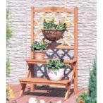 玄関を演出する木製フラワースタンド 鉢置き台