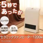 セラミックヒーター1200w TS-123(W) ホワイト TEKNOS テクノス 電気ヒーター 暖房 ホット