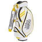 ソフトバンク キャディーバッグ 白/黄色 SBCB-6262 レザックス キャディバッグ キャディバック ゴルフバッグ ゴルフバック 人気 サイズ 収納
