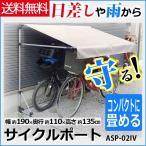 サイクルポート ASP-02IV アルミス サイクルハウス 自転車 サイクルガレージ ガレージ サイクルポート 自転車置き場