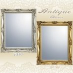 Yahoo!megastore Yahoo!店鏡 壁掛け 鏡 ミラー 鏡 ヴィンテージスタイルミラー シルバー ゴールド AM-03511 AM-03512 鏡 卓上 アンティーク