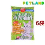 ショッピング猫砂 猫砂 常陸化工 流せる木製猫砂 ( 6L*6コセット )