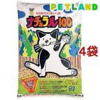 ショッピング猫砂 猫砂 スーパーキャット ナチュラル100 ( 8L*4コセット )/ スーパーキャット