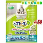 デオトイレ ふんわり香る消臭・抗菌サンド ナチュラルグリーンの香り ( 3.8L*4袋セット )/ デオトイレ