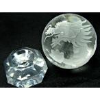 クリスタル龍彫り 丸玉 天然石   パワーストーン 水晶 龍彫り丸玉 龍彫刻 約55ミリ 4月誕生石