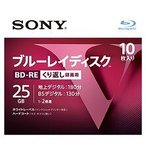 SONY (ソニー) ブルーレイディスク録画用 RE2倍速1層 Vシリーズ 10BNE1VLPS2(10枚入)