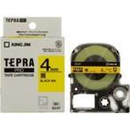 (業務用5セット) キングジム テプラPROテープ/ラベルライター用テープ 〔幅:4mm〕 SC4Y 黄に黒文字