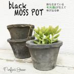 モスポット ブラック3鉢 植木鉢 陶器鉢 テラコッタ鉢 素焼き鉢 鉢底穴アキ プランター おしゃれな植木鉢 mossポット 即日出荷