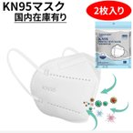 KN95 マスク 2枚セット 密閉パック 即納 男女兼用 大人 不織布 4層 フィルター マスク風邪 PM2.5対策 ウイルス対策 メール便可250円