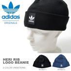 ニット帽 adidas ORIGINALS アディダス オリジナルス メンズ HERI RIB LOGO BEANIE ロゴ ビーニー 帽子