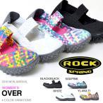 ショッピングサボ サンダル ROCK SPRING ロックスプリング レディース OVER オーバー メッシュ 編み込み 軽量 スリッポン シューズ 靴 RS-103 送料無料