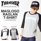 ラグランTシャツ THRASHER スラッシャー メンズ 7分袖 ロゴ TEE 2016秋新作 20%off