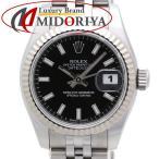 ロレックス ROLEX デイトジャスト レディース 179174 ブラック文字盤 ランダム番 SS/WG 腕時計 /34958 【中古】
