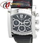 ブルガリ BVLGARI アショーマ クロノグラフ AA48SCH メンズ 黒レザー 自動巻き /35327 【中古】 腕時計