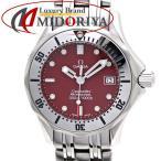 オメガ OMEGA シーマスター 300m 2582.61 丸井限定 赤文字盤 レディース /35496 【中古】 腕時計