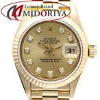 ロレックス ROLEX デイトジャスト 69178G レディース YG 金無垢 10Pダイヤ W番 /35534 【中古】【オーバーホール済み / 外装磨き仕上げ済み】腕時計