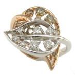 デュノア リング DuNoA コノハ KoNoHa K18WG K18PG ダイヤモンド0.50ct 0.20ct 12号/93692 18金ホワイトゴールド ピンクゴールド 神田うの 指輪画像