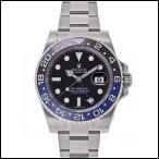 ロレックス  GMTマスターII オイスター ブレスレット ブラック ラッカー 自動巻き メンズ 腕時計 116710BLNR
