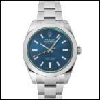 ロレックス  ミルガウス Zブルー  自動巻き 時計  メンズ 腕時計  116400GV
