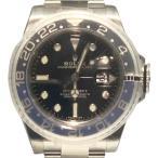 ロレックス GMTマスターII ブラックラッカー 自動巻き 時計 メンズ 腕時計 116710BLNR