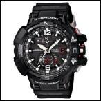 カシオ G-ショック スカイコックピット オールブラック×レッド メンズ 腕時計 ソーラー 電波 GW-A1100-1AJF