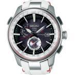 SEIKO セイコー ASTRON アストロン メンズ腕時計 SBXA045 GPS衛星 ソーラー 電波修正 限定モデル 1500本 ブラック×ホワイト 革ベルト 国内正規品