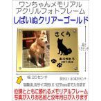 わんちゃん名入れメモリアルシルエットアクリルフォトフレーム柴犬ゴールド7020shiba-go