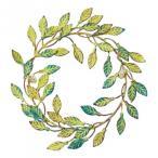 【代引き不可】【日時指定可】彩か(SAIKA) Wall Decoration METAL Wreath メタルリース アンティークグリーン CIE-730