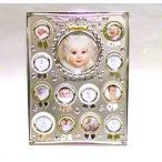 フォトフレーム 写真立てロゼット 12ヶ月 フォトフレーム・シルバー 0719-22 (かわいいフレーム 男の子向き 女の子向き ベビー ギフト 出産祝 誕生)