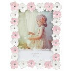 フォトフレーム L判サイズ BJ01-L-PK/WH 20%OFF 花 ピンク 白 ブライダル かわいい 写真立て プレゼント 誕生日 ラドンナ 女の子 成人式