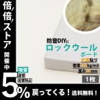 防音パネル 防音ボード 吸音 防音 DIY 遮音 騒音対策 ピアリビング ロックウールボード 密度150kg/m3 ガラスクロス片面貼り 白 605×910mm 厚さ50mm 1枚