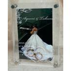 結婚御祝・出産祝いに メモリアルを刻印できる 名入れフォトフレーム【メモリアルウェディングフレーム 】