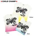 【セール/SALE】CHILD CHAMP(チャイルドチャンプ)バタフライプリント&ステッチグラデーション半袖Tシャツ【86152109b】【80cm/90cm/95cm】