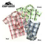 【セール/SALE】KRIFF MAYER(クリフメイヤー)チェック半袖Tシャツ(ストール付)【954971Kb】【90cm】