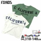 F.O.KIDS エフオーキッズ 半袖Tシャツ オフホワイト カーキ CALIFORNIA R407917 110cm 120cm 130cm 140cm