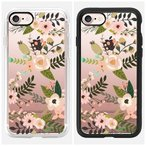 ★Casetify★PEACHY PINK FLORALS iPhone7ケース