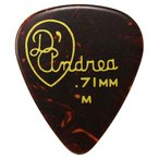 D'Andrea USA ピック RG351 GAUGED TORTOISE SHELL CELLULOID