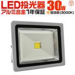 LED投光器 30W 300W相当 防水 LEDライト 集魚灯 作業灯 防犯 ワークライト 看板照明 電球色 一年保証 (クーポン配布中)