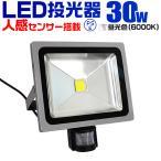 LED投光器 30W 300W相当 人感センサースイッチ付 作業灯 防犯 広角 防水 3mコード付 昼光色 (クーポン配布中)